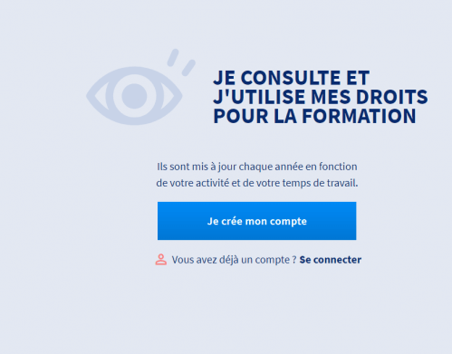 création compte CPF